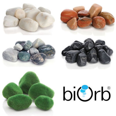 Biorb Marble Pebbles Aquarium Fish Tank Decoration Moss Red Black White Green • 8.89£