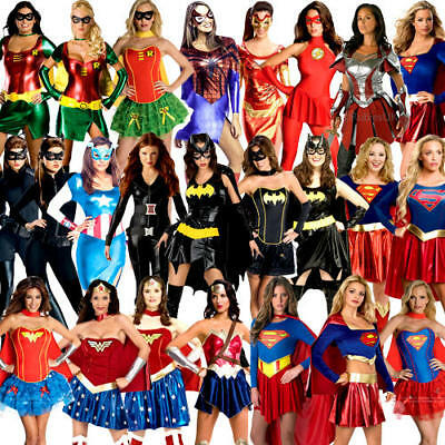 £31.99 • Buy Superhero Ladies Fancy Dress Marvel DC Comic Book Day Womens Adults Costume New