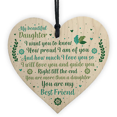 £3.99 • Buy Mother And Daughter Keepsake Gift Plaque Wooden Heart Christmas Birthday Sign