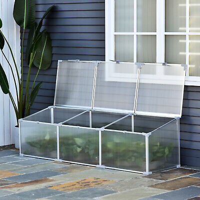 """71"""" Aluminum Greenhouse Plants Raised Bed Vented Cold Frame Protector • 60.99£"""