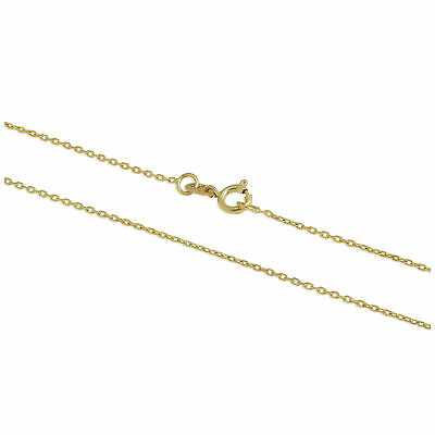 9ct Gold Faceted Trace Chain 16 - 22 Inches • 45£