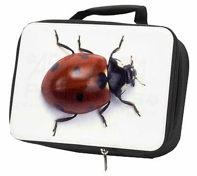 Close-Up Ladybird Print Black Insulated School Lunch Box Bag, ILB-1LBB • 17.98£