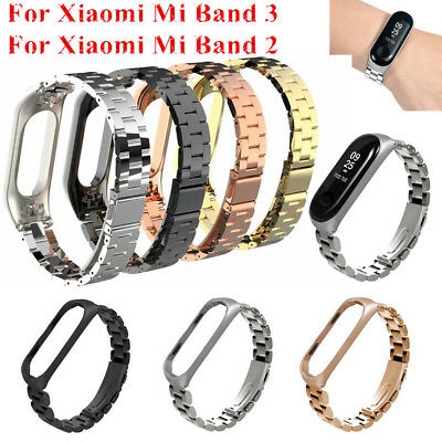 AU16.92 • Buy For Xiaomi Mi Band 3 / Band 2 Stainless Steel Wrist Strap Metal Wristband Buckle