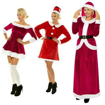 Miss Santa Costume Women Mrs Claus Father Christmas Xmas Fancy Dress Outfit Elf  • 6.99£