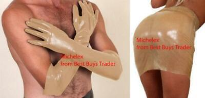 MicheleX - Semi Trans Latex Rubber Elbow Gloves (UK) S / LC01 • 15.95£