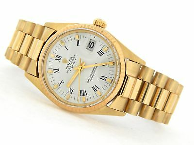 $ CDN10795.98 • Buy Rolex Date 1503 Men Solid 14K Yellow Gold Watch President Style Band White Dial