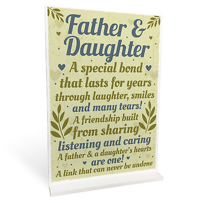 £4.99 • Buy Father Daughter Keepsake Gift For Dad Birthday Christmas Thank You Ornament Sign