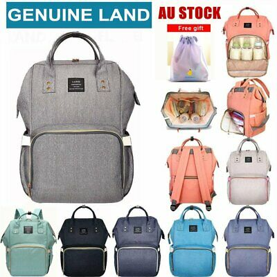 AU34.50 • Buy GENUINE LAND Multifunctional Large Baby Diaper Backpack Changing Bag Nappy Mummy