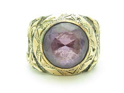 AU957.20 • Buy 14k Rose Gold & Sterling Silver Hand Made Design Alexandrite Band Ring Size 11