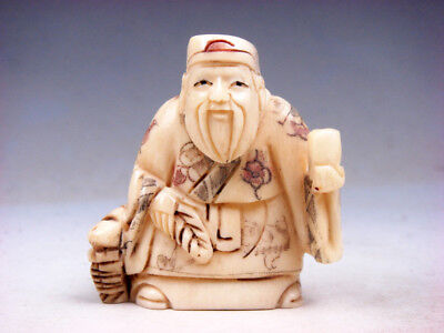 £116.99 • Buy Japanese Highly Detailed Hand Crafted Netsuke Old Man Holding Cup #11201812
