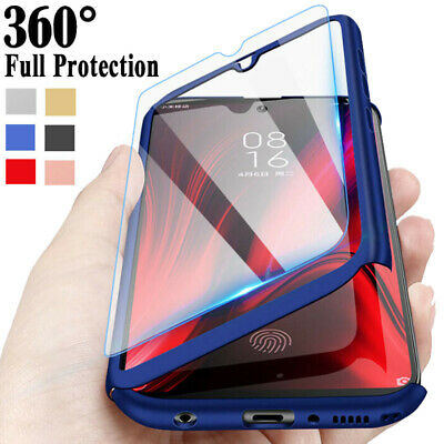 $0.99 • Buy For Xiaomi Mi 9T 8 9 Lite A1 A2 A3 Pocophone F1 Full Cover Case + Tempered Glass