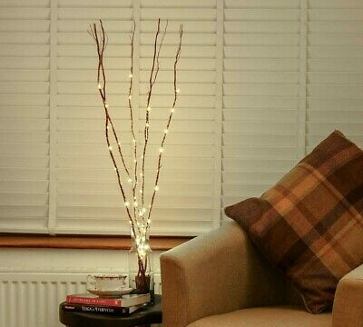 £10.99 • Buy 5 X 88cm Battery Power Twig Branch Decoration With LED Wire Lights | Home Indoor