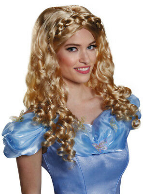 Adult Disney CINDERELLA PRINCESS Wig Deluxe Licensed Wig • 23.97£