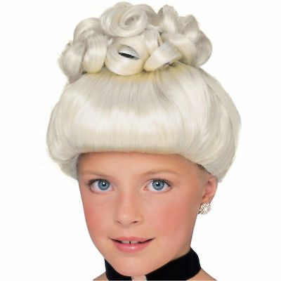 Girls Child Platinum Blonde Cinderella Princess Costume Wig • 16.61£