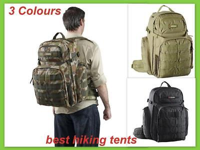 AU115 • Buy Caribee 50L OPS Military Army Backpack Bag Outdoor Sport Rucksack Heavy Duty NEW