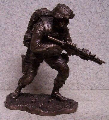 $89.99 • Buy Figurine Statue Military Combat Warrior On The Move NEW 9