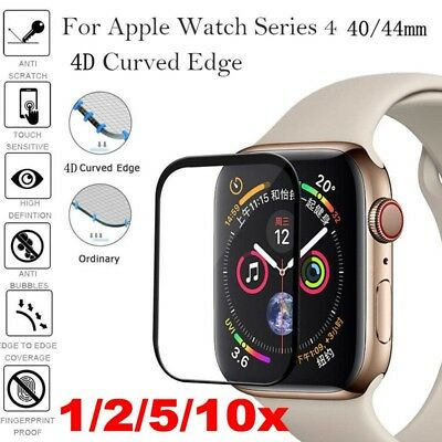 $ CDN5.34 • Buy Lot Apple Watch Series 4 Full Cover 4D Tempered Glass Screen Protector 40/44mm