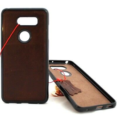 AU19.36 • Buy Genuine Leather Case For LG V30 Magnetic Soft Rubber Slim Cover Handmade Davis
