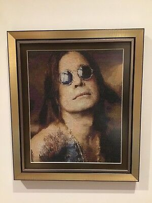 Ozzy Osbourne Finished And Framed Cross Stitch Picture • 175£