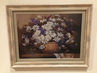 Finished Completed Cross Stitch - Flowers Nature Morte • 190£