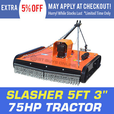 AU2149 • Buy Tractor Slasher 5ft 3  Gear Box 75 HP 60 HP 5 Mm Deck Thickness