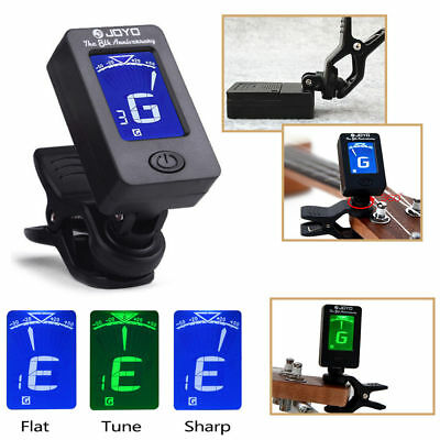 AU9.29 • Buy LCD Clip-on Electronic Digital Guitar Tuner For Chromatic Violin Ukulele Picker