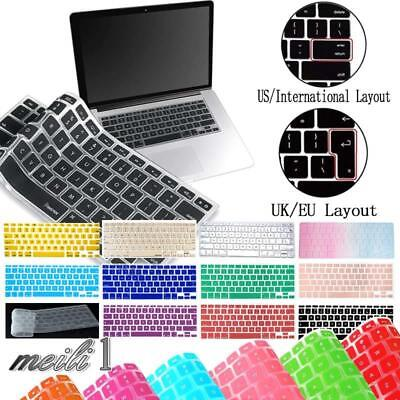 £3.49 • Buy New Silicon Rubber UK / USA Keyboard Skin Cover For Apple Macbook Air Pro Retina