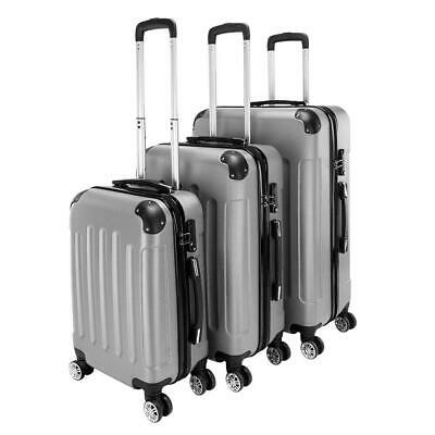 View Details New 3 Pieces Travel Spinner Luggage Set Bag ABS Trolley Carry On Suitcase W/TSA • 75.99$