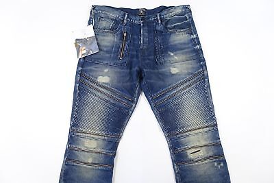 Prps Goods Co Faded Ripped Cut Knee 32 Zipper Trim Demon Straight Leg Jeans Nwt • 116.42£