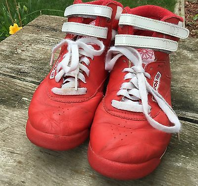 £41.16 • Buy Vintage Reebok FreeStyle Red & White Women's Hi Top Shoes Size 7.5