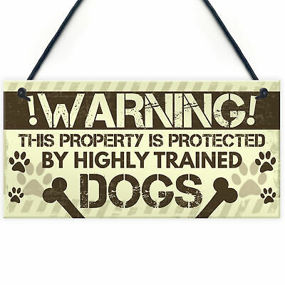 £3.99 • Buy Beware Of The Dog Gate Sign Do Not Enter Dog Plaque Dog Sign Funny Home Decor