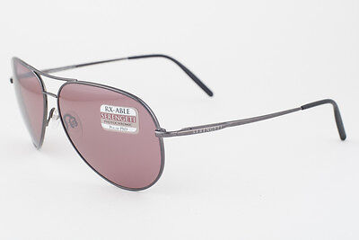 $179.50 • Buy Serengeti Medium Aviator Shiny Gunmetal / Polarized Sedona Sunglasses 8088