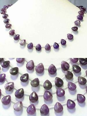 $20.99 • Buy 6 Purple Lepidolite Smooth Briolette Beads 8938
