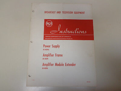 $19.99 • Buy RCA Power Supply & Amplifier Broadcast Television Instruction Manual 1960's
