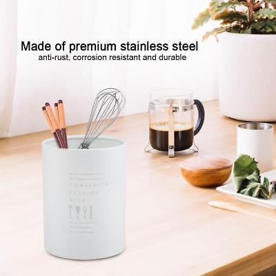 AU13.82 • Buy Stainless Steel Kitchen Cutlery Utensil Drainer Holder Organizer Basket Caddy