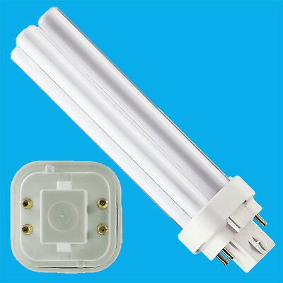 4x 18W G24q-2, 4 Pin, Low Energy CFL BLD Double Turn Light Bulb Cool White Lamp • 9.48£