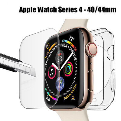 $ CDN3.07 • Buy For Apple Watch Series 4 40mm & 44mm Soft Bumper Protective Case & Screen Cover