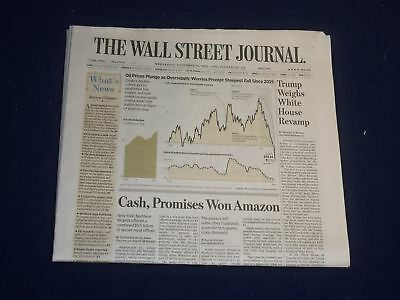 $35 • Buy 2018 November 14 Wall Street Journal Newspaper - Amazon Picks Queens, Ny For Hq2