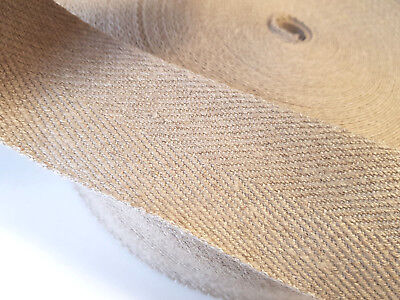 £5.79 • Buy PURE LINEN WEBBING Per Metre 50mm Wide Flax Fabric Strap Upholstery Chair Craft