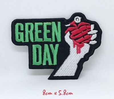 £1.98 • Buy Punk Heavy Metal Music Green Day Embroidered Iron Sew On Patch #1198