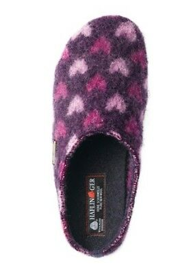 Haflinger Soft Slippers [Size 37] Ladies Wool Hearts New & Original Packaging • 33.16£