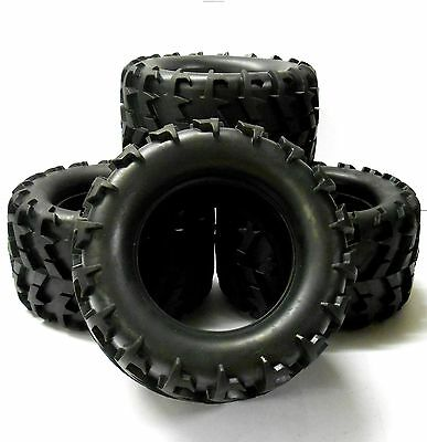 BS904-015x4 1/8 Scale RC Monster Truck Off Road Rubber Tire Tyre X 4 • 23.99£