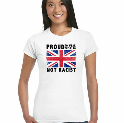 £8.95 • Buy Proud Womens Union Jack Flag T-Shirt Immigration Football Rugby St Georges Day