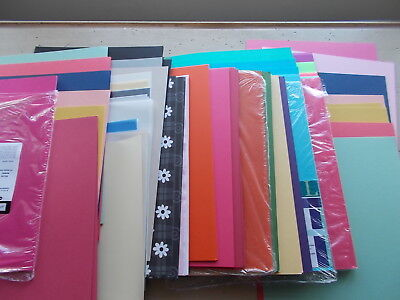 $10 • Buy Large Mixed Lot 200 Sheets Cardstock & Other Scrapbook Paper 8.5 X 11