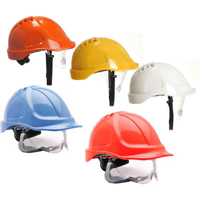 PW55 Portwest Endurance Visor Helmet Hard Hat Workwear Safety Defender Cap • 9.45£