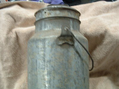 $75 • Buy Old Antique Metal Security Branded Milk Can Pail With Cover