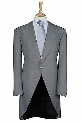 £79.99 • Buy Silver Grey Two Piece Suit Wedding Wool Ex Hire Tailcoat Tails Morning Ascot