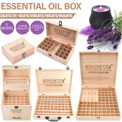AU23.99 • Buy DoTERRA Essential Oil Storage Box Wooden 25-85 Slots Aromatherapy Organizer