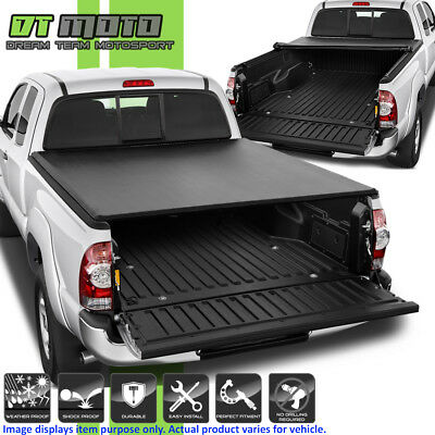 ff76a85f6a1 Premium Soft Roll Up Tonneau Cover For 2005-2015 Toyota Tacoma 6FT (72 )