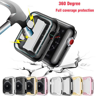 $ CDN3.63 • Buy Screen Protector Case For Apple Watch 3 2 1 Soft TPU Full Cover For IWatch 5 4
